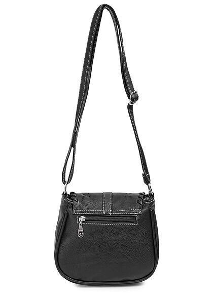 Styleboom Fashion Damen Mini Kunstleder Handtasche ca. 20x23cm schwarz
