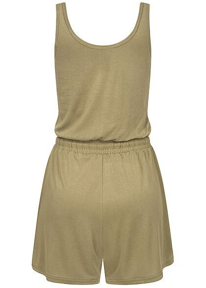 Urban Classics Damen Playsuit Tunnelzug khaki beige