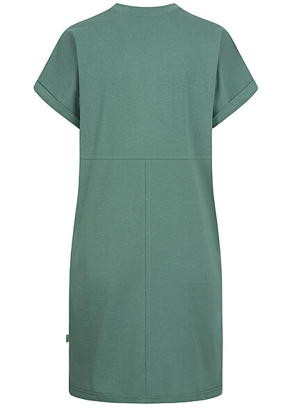 Urban Classics Damen T-Shirt Kleid paleleaf grün