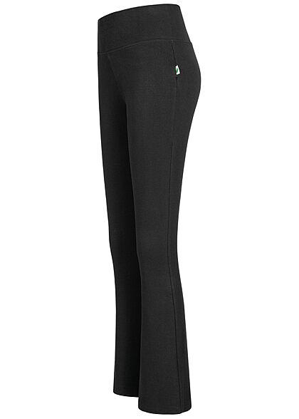 Urban Classics Damen Bootcut Leggings Gummibund schwarz