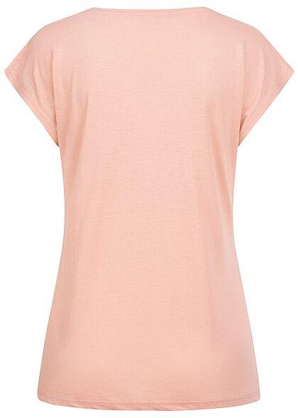 Hailys Damen T-Shirt Forever Love Pailletten mit Herbst Print rose lila gold