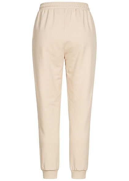 ONLY Damen Jogginghose Sweat Pants 2-Pockets Tunnelzug Viginia Print silver lining