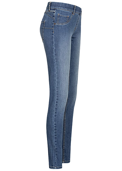 Seventyseven Lifestyle Damen Skinny Jeggings 5-Pockets denim blau