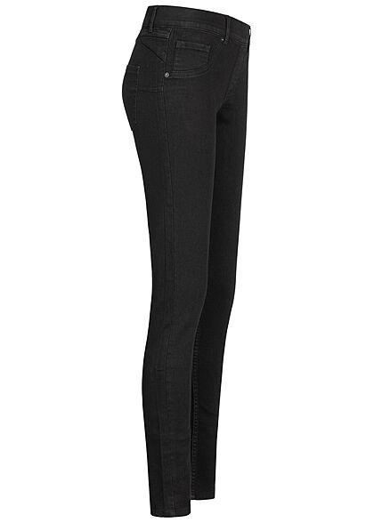 Seventyseven Lifestyle Damen Skinny Jeggings 5-Pockets schwarz