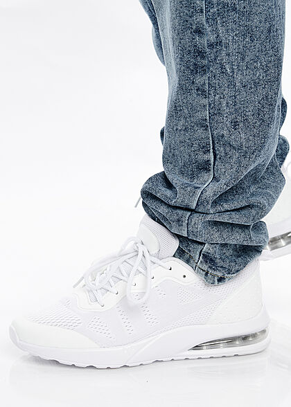 Lowrider Herren Jeans Hose 5-Pockets washed look denim dunkel blau