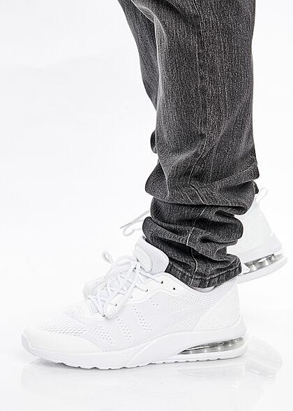 Lowrider Herren Jeans Hose 5-Pockets washed look denim schwarz