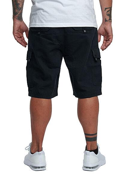 Lowrider Herren Cargo Bermuda Shorts mit Zunnelzug 6-Pockets schwarz