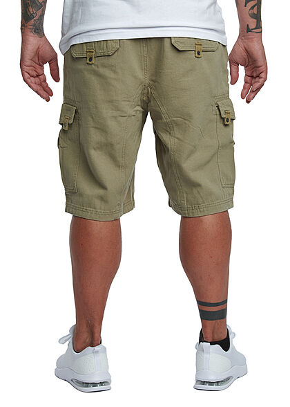 Lowrider Herren Cargo Bermuda Shorts mit Tunnelzug 6-Pockets khaki