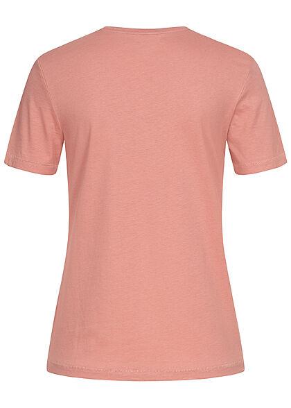 ONLY Damen Regular Slim Fit T-Shirt mit Eye Print ash rose