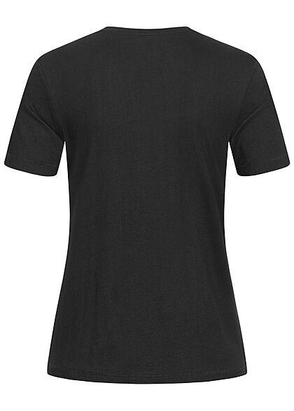 ONLY Damen Regular Slim Fit T-Shirt mit Eye Print schwarz