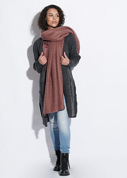 ONLY Damen NOOS Longform Schal 180x60cm rose braun bordeaux