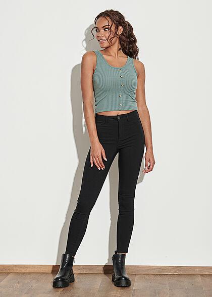 ONLY Damen NOOS High-Waist Skinny Jeans Hose 5-Pockets schwarz denim