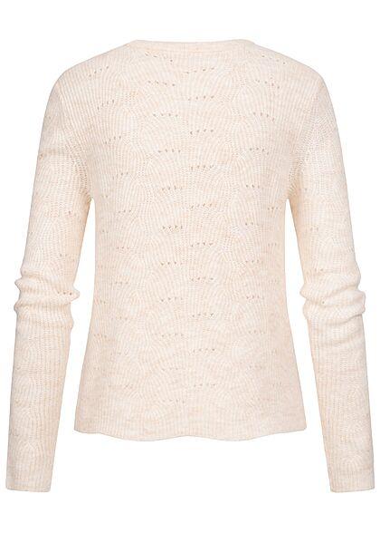 ONLY Damen NOOS Strickpullover Sweater Strukturstoff birch beige