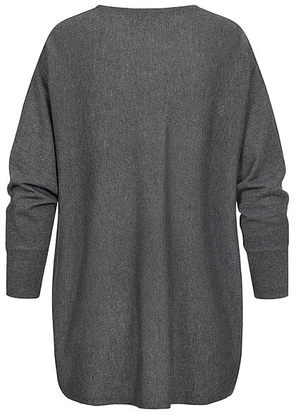 ONLY Damen Oversized Longform Sweater Pullover schwarz