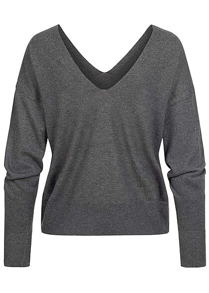 ONLY Damen V-Neck Pullover Sweater schwarz