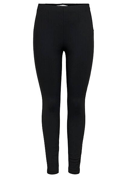 ONLY Damen High-Waist Leggings Zipper seitlich schwarz