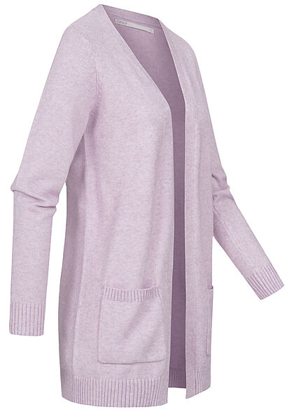 ONLY Damen NOOS Cardigan 2-Pockets offener Schnitt lavendula lila
