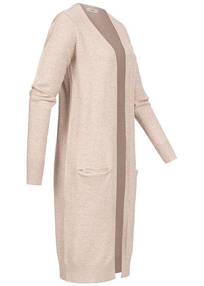 JDY by ONLY Damen NOOS Longform Cardigan 2-Pockets beige