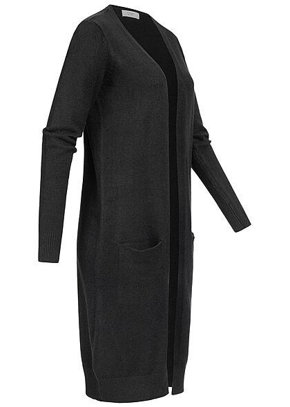 JDY by ONLY Damen NOOS Longform Cardigan 2-Pockets schwarz