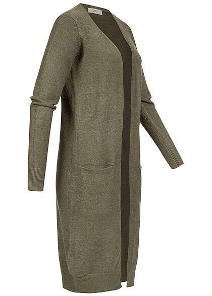 JDY by ONLY Damen NOOS Longform Cardigan 2-Pockets forest night oliv grün