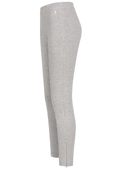 Champion Damen Leggings Gummibund Zipper Detail grau