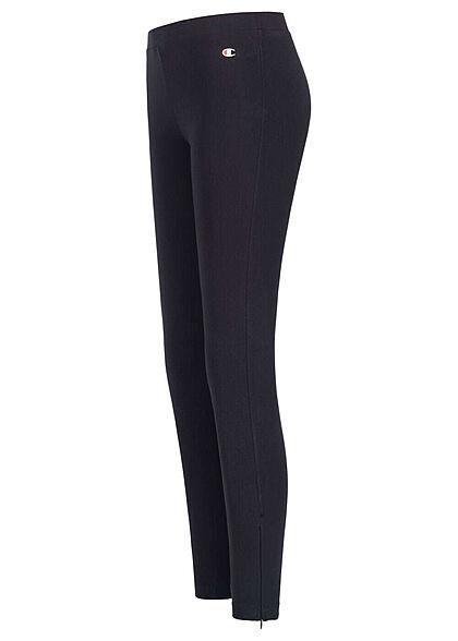 Champion Damen Leggings Gummibund Zipper Detail schwarz