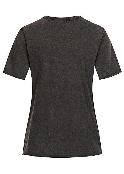 ONLY Damen T-Shirt Radical World Tour Print schwarz pink
