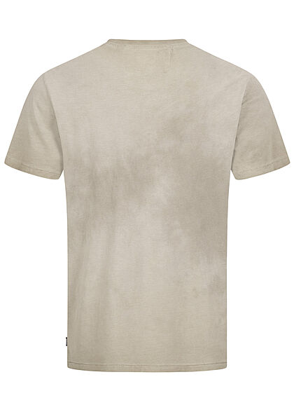 ONLY & SONS Herren NOOS Basic T-Shirt im washed Look pelican oliv grün