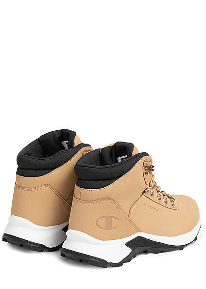 Champion Herren Schuh High Cut Shoe Winter Boots zum schnüren Kunstleder beige braun