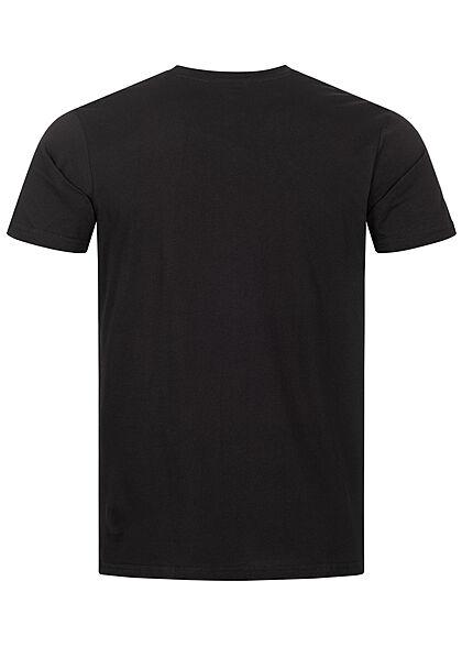 Alpha Industries Herren 2-Tone T-Shirt mit Logo Print schwarz weiss