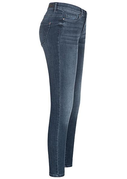 ONLY Damen NOOS Skinny Jeans Hose 5-Pockets Detailnähte blue black denim