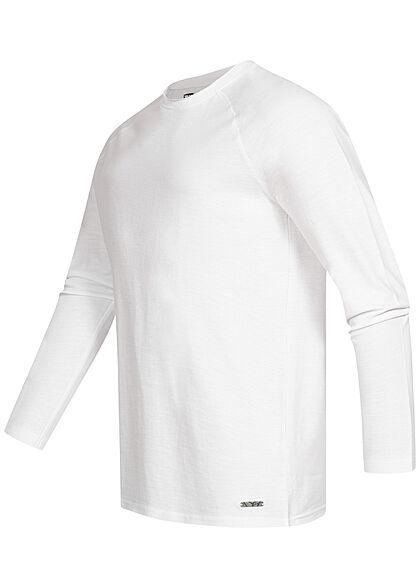 Eight2Nine Herren Raglan Strickpullover Sweater weiss