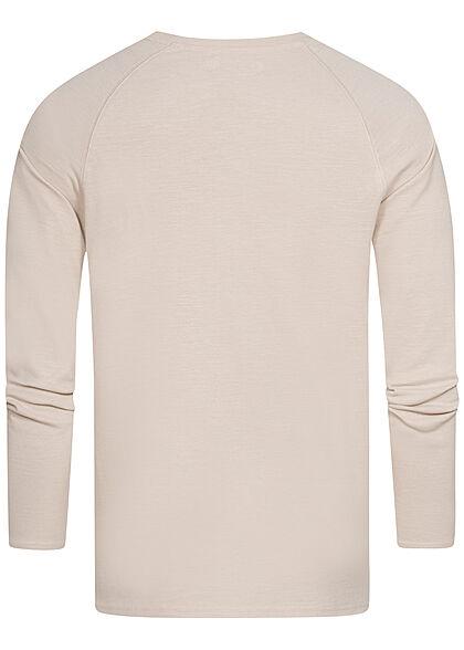 Eight2Nine Herren Raglan Strickpullover Sweater birch beige