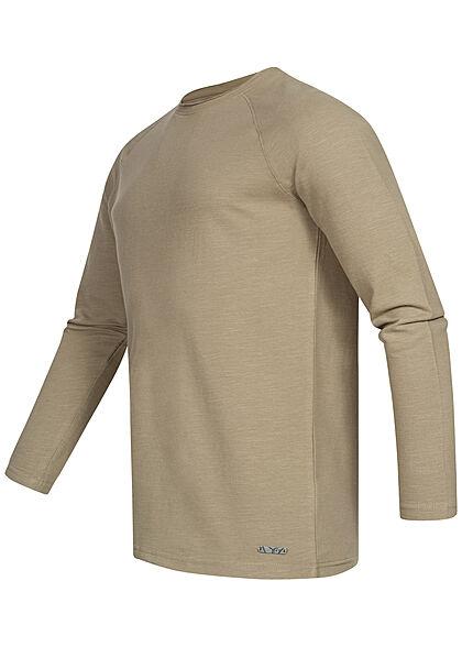 Eight2Nine Herren Raglan Strickpullover Sweater washed oliv grün