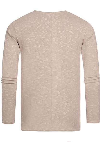 Eight2Nine Herren Sweater Strickpullover string beige