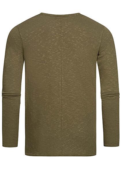 Eight2Nine Herren Sweater Strickpullover ivy oliv grün