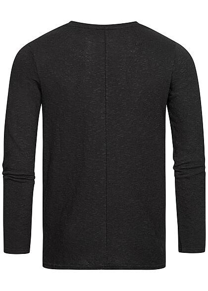 Eight2Nine Herren Sweater Strickpullover schwarz