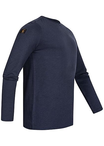 Eight2Nine Herren Longsleeve leichter Basic Pullover stormy blau