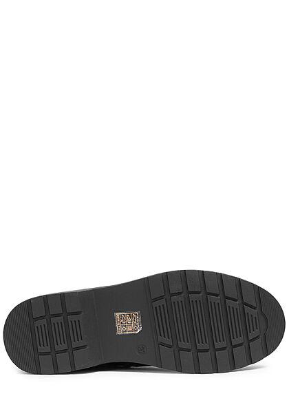 Seventyseven Lifestyle Damen Schuh Worker Boots Stiefelette Zipper schwarz