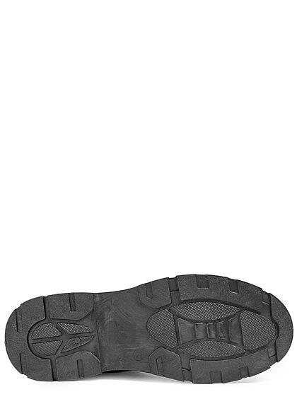 Seventyseven Lifestyle Damen Schuh Canvas Worker Boots Zipper seitlich schwarz