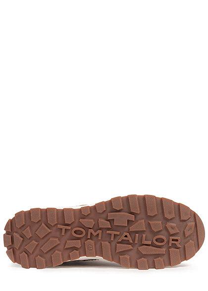 Tom Tailor Herren Schuh Winter Worker Boots zum schnüren mit Zipper seitl. camel braun
