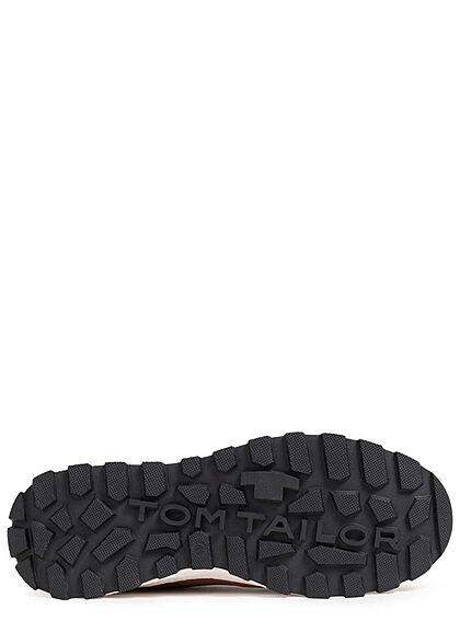 Tom Tailor Herren Schuh Herbst Worker Sneaker zum schnüren Materialmix khaki