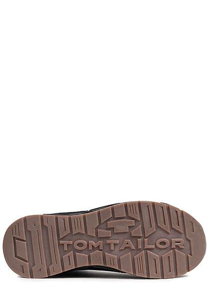 Tom Tailor Herren Schuh Herbst Worker Halbstiefel Materimix zum schnüren schwarz