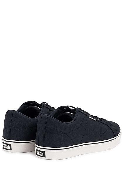 Jack and Jones Herren NOOS Schuh Canvas Sneaker zum schnüren mit Logo anthrazit
