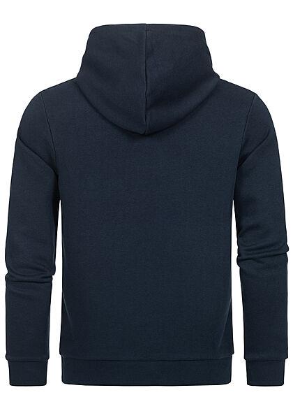 Jack and Jones Herren Basic Hoodie mit Logo Print Kapuze blazer navy blau