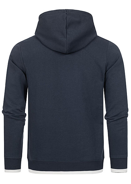 Jack and Jones Herren NOOS Sweat Hoodie Logo Schriftzug Kängurutasche blazer navy blau