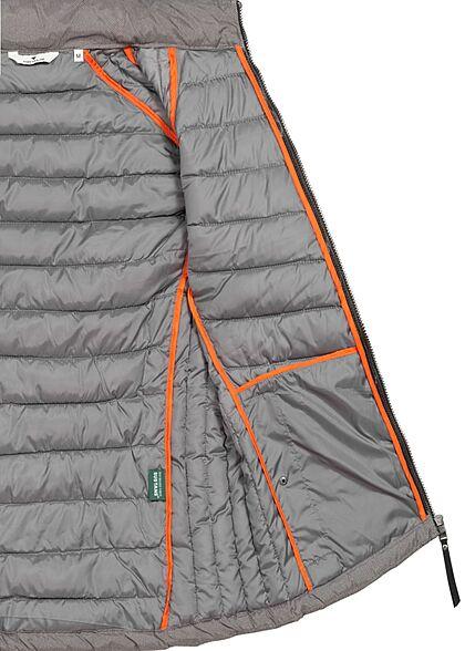 Tom Tailor Herren Herbst Jacke mit Stehkragen 2-Pockets Strukturmuster grau schwarz