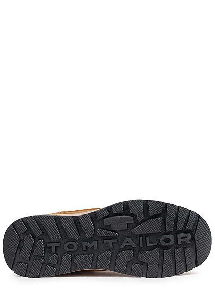 Tom Tailor Herren Schuh Kunstleder Sneaker camel braun
