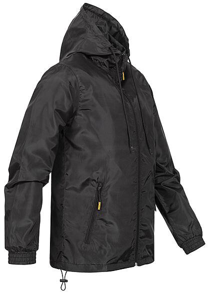 Lowrider Herren Windbreaker Jacke mit Kapuze 2-Pockets schwarz