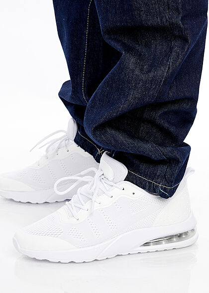 Southpole Herren Jeans Hose Loose Fit Cut Southpole-Logo 5-Pockets raw indigo blau